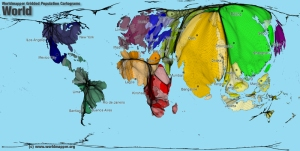 Geographically correct the undistorted globe expertly wrapped worldmapper world population gumiabroncs Choice Image