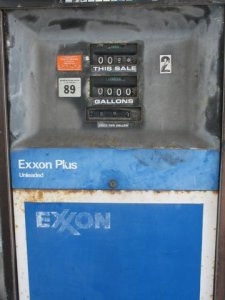 Exxon gas pump
