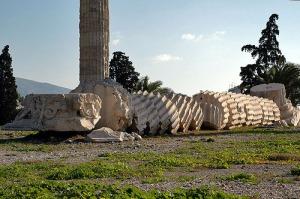 Toppled Greek column