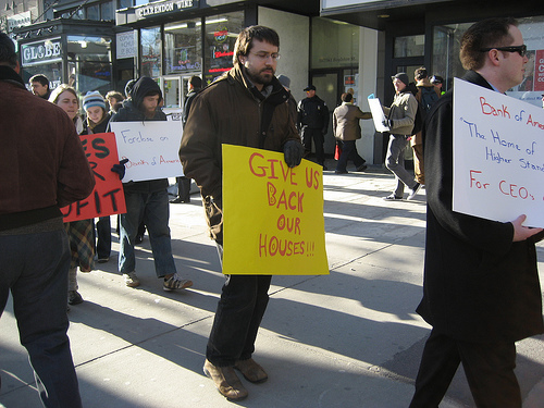 Boston foreclosure protest