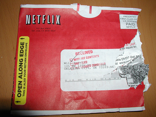 damaged Netflix envelope
