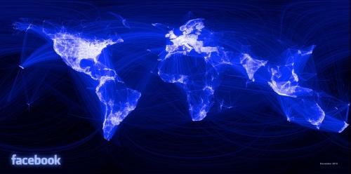 Facebook friendship map