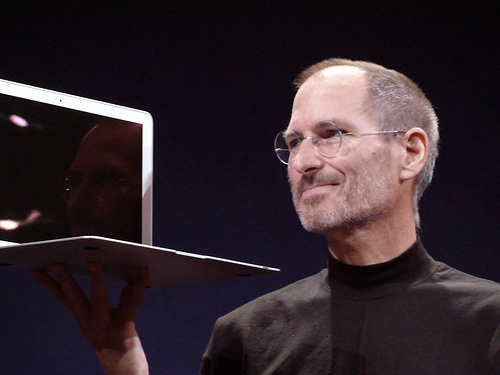Steve Jobs introducing the MacBook Air