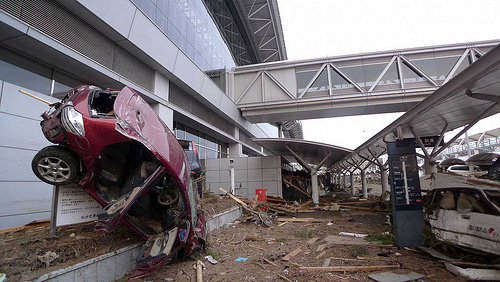 Sendai airport after the tsunami