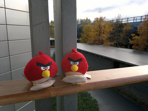 Angry Birds at Nokia headquarters